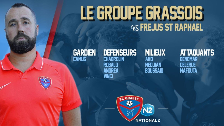 N2 : La composition d'équipe pour affronter l'Étoile Fréjus/Saint-Raphaël