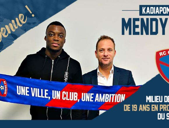 Kadiapome Mendy signe au Racing Club de Grasse (officiel)