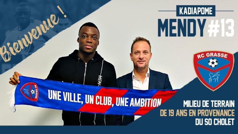 Kadiapome Mendy signe au Racing Club de Grasse (officiel)