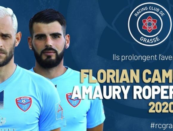 N2 : Florian Camus et Amaury Roperti prolongent avec le RC Grasse