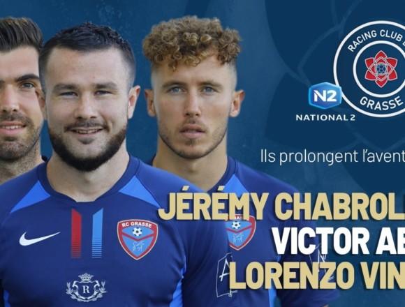 N2 : Lorenzo Vinci, Victor Abt et Jérémy Chabrolin seront grassois l'an prochain