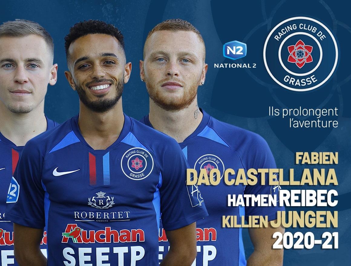 N2 : Fabien Dao Castellana, Hatmen Reibec et Killien Jungen prolongent avec le RC Grasse