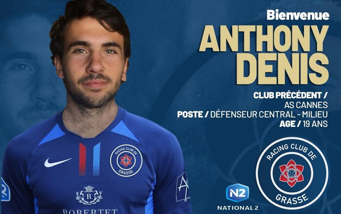 Anthony Denis signe au RC Grasse (officiel)