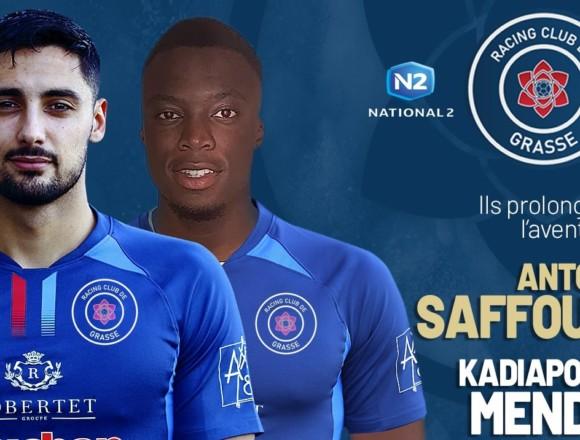 N2 : Antoni Saffour et Kadiapome Mendy poursuivent l'aventure avec le RC Grasse