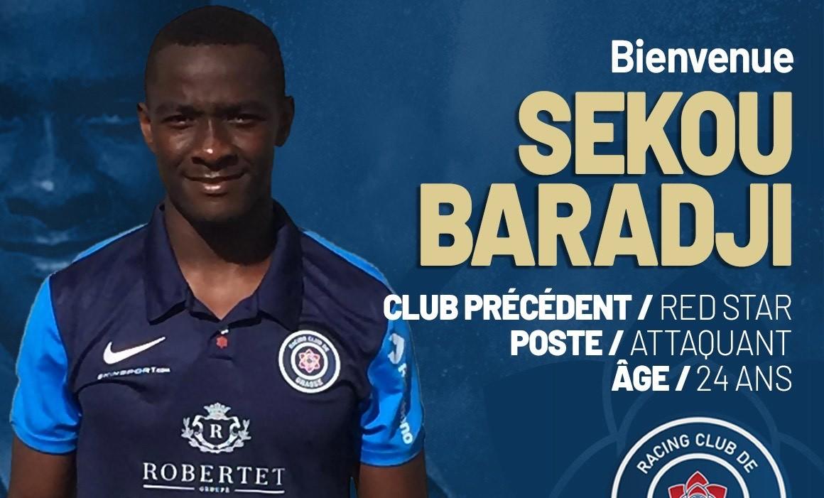 Sekou Baradji (Red Star) signe au RC Grasse