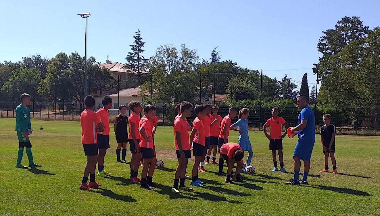 Nos U13 de retour à l'entraînement à Saint-Vallier-de-Thiey