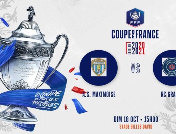 Coupe de France (5e tour) : Le RC Grasse affrontera l'AS Maximoise